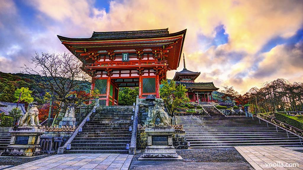 Tempio kiyomizudera kyoto giappone for Architettura tradizionale giapponese